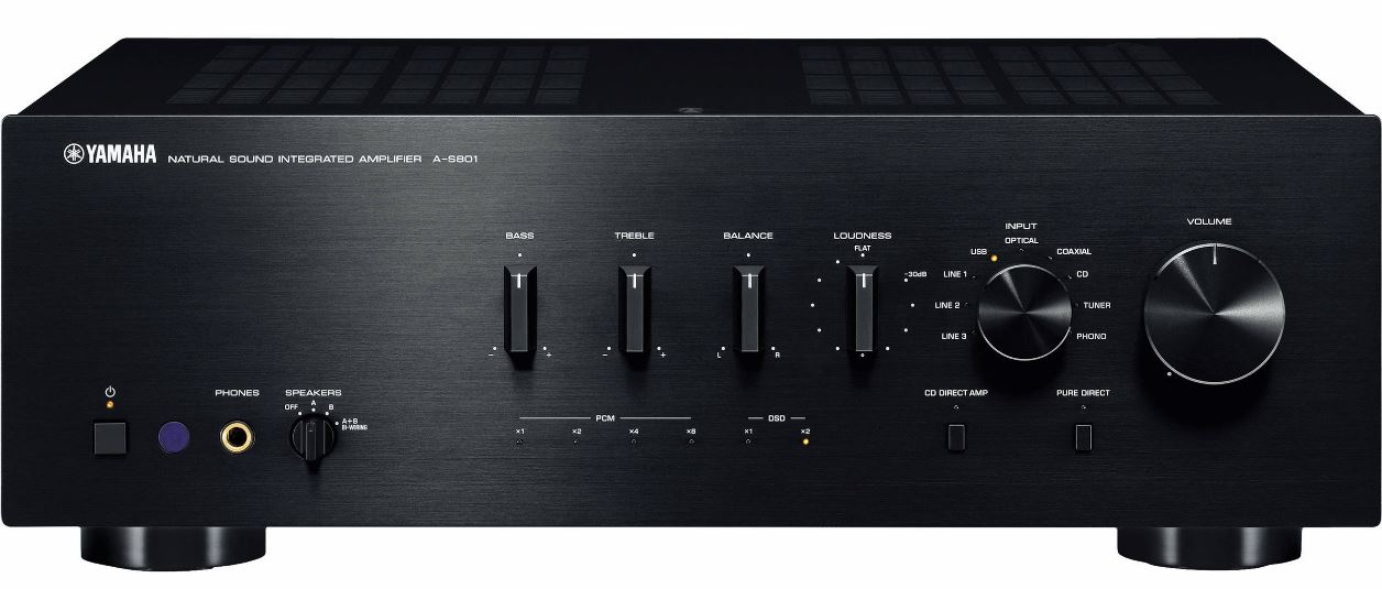 Yamaha - Amplificateur Stéréo 160W/Canal AS801B