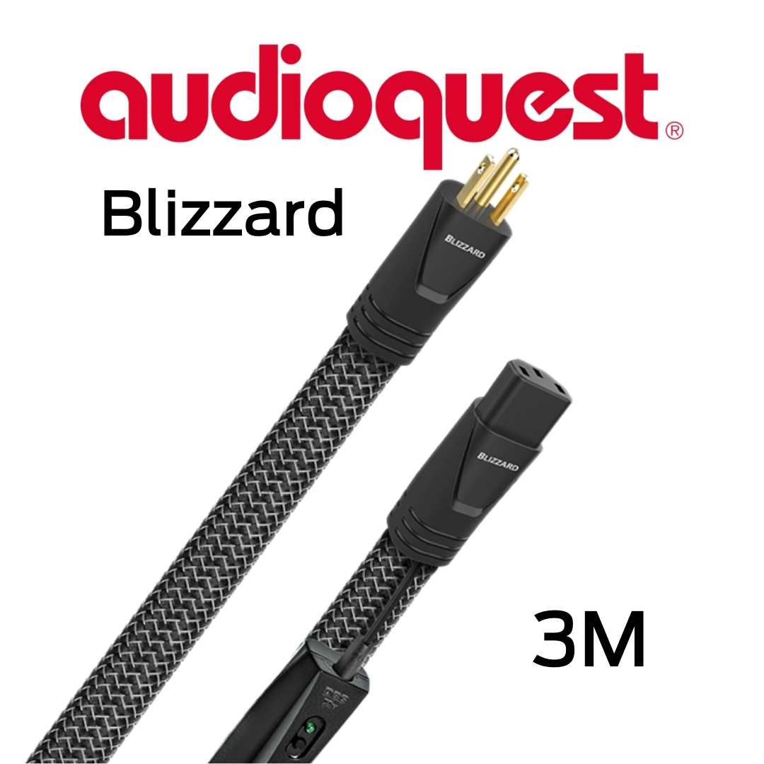 AudioQuest - Câble d'alimentation tripolaire 3M Calibre 12AWG 20 Amp@60HZ 72vDBS Blizzard300