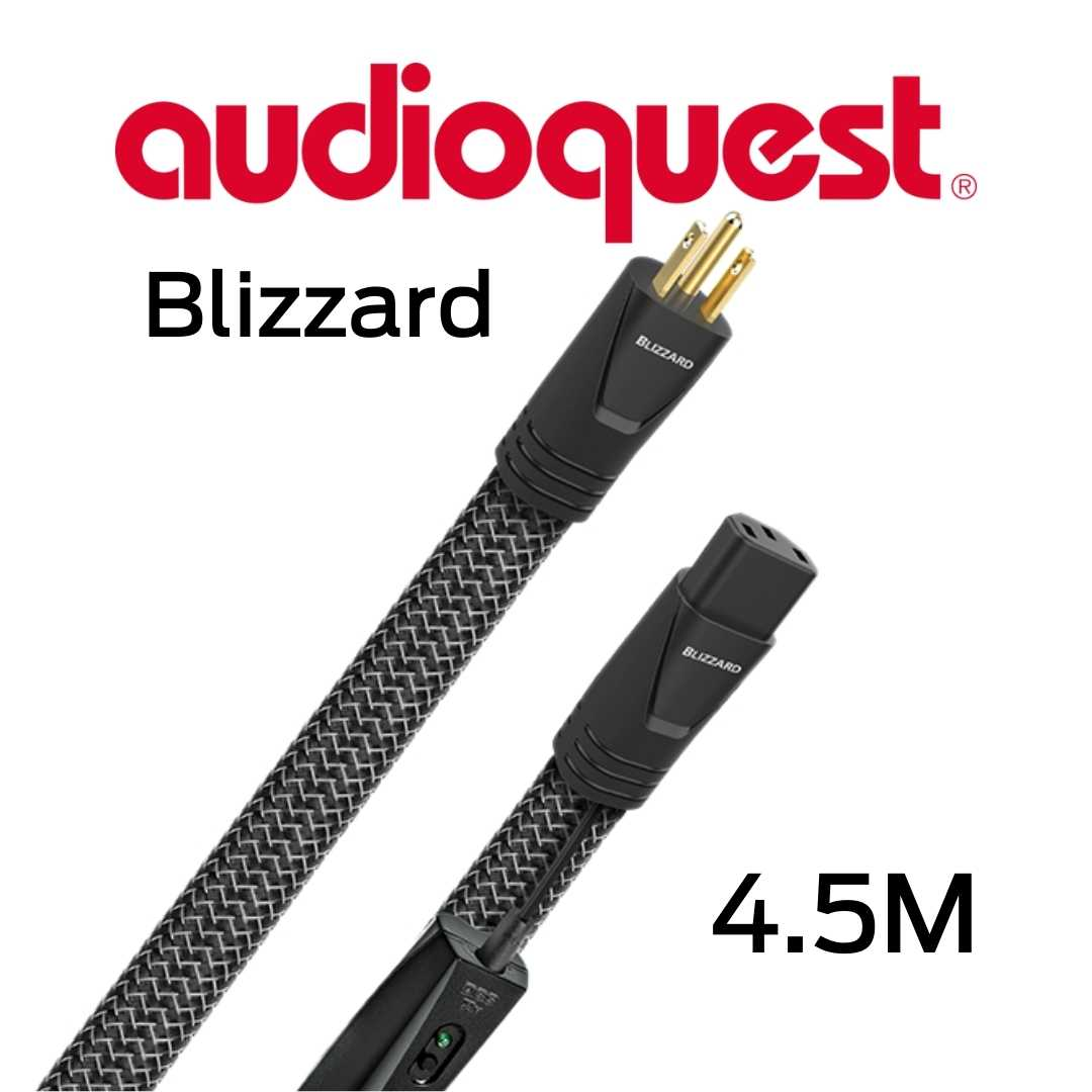 AudioQuest - Câble d'alimentation tripolaire 4.5M Calibre 12AWG 20 Amp@60HZ 72vDBS Blizzard450