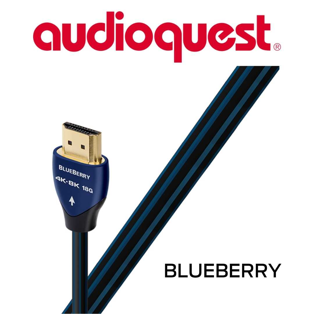 AudioQuest - Câble HDMI BLueberry 0.75M 2'6'' HDMIBLU075