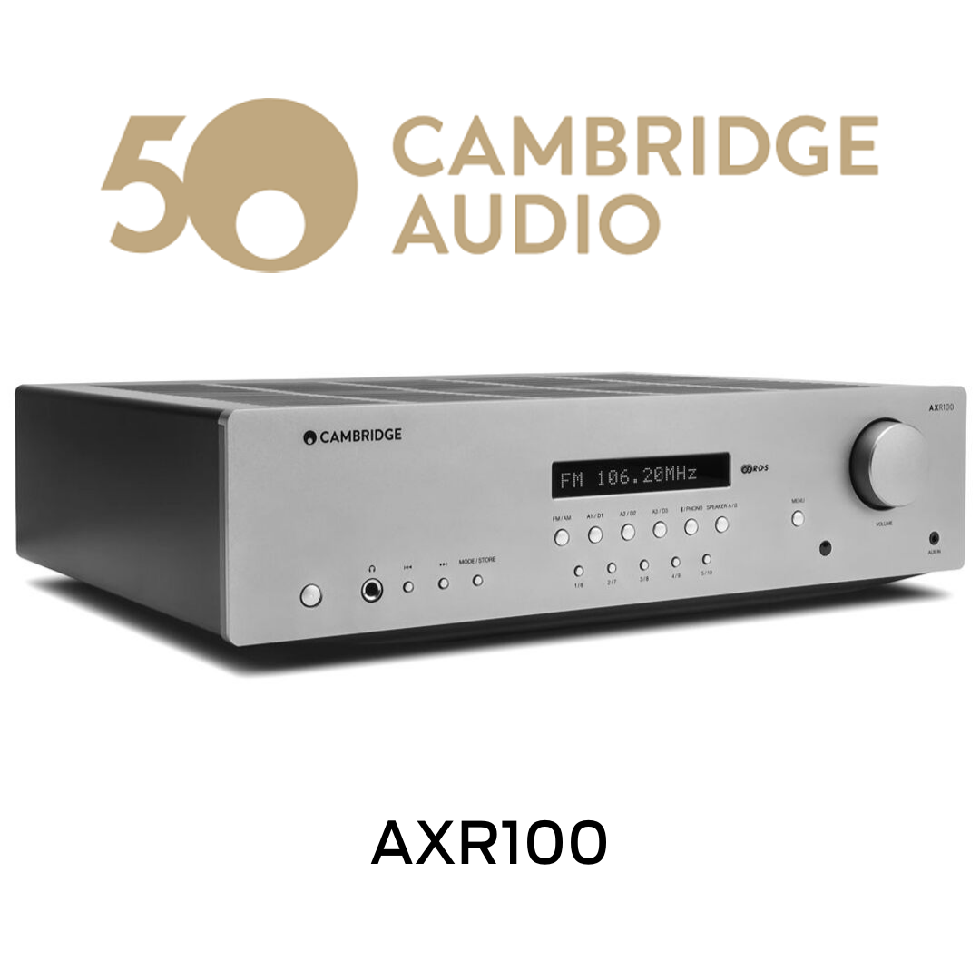 Cambridge Audio - Récepteur stéréo AM/FM 100W/Canal AXR100