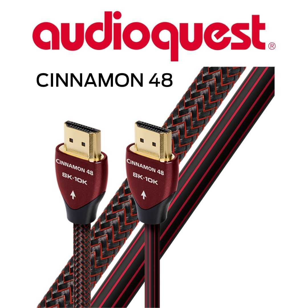 AudioQuest - Câble HDMI Cinnamon 48Gbps 8K-10K 0.75M 2'6'' HDMICIN48075