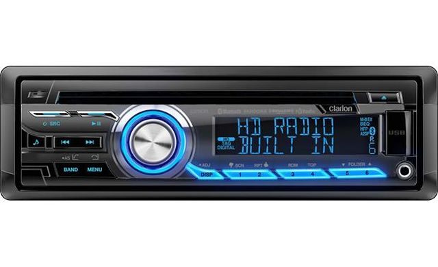 Clarion - Radio d'auto Simple DIN Bluetooth/Radio HD