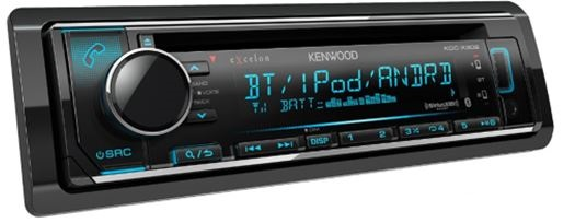 Kenwood - Radio simple DIN eXcelon avec Bluetooth - KDCX302