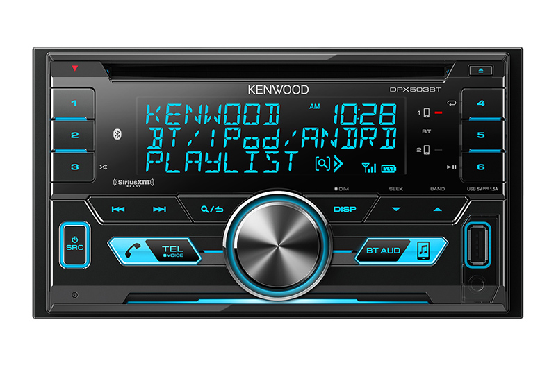 Radio double Din Kenwood avec CD - DPX503BT