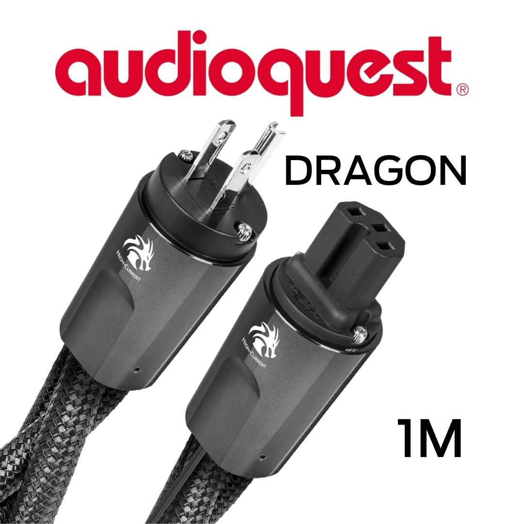 AudioQuest - Câble d'alimentation à courant élevé variable 1M Calibre 11AWG 20Amp RMS@125VAC 50/60Hz 72vDBS PSS/PSC+ Dragon100