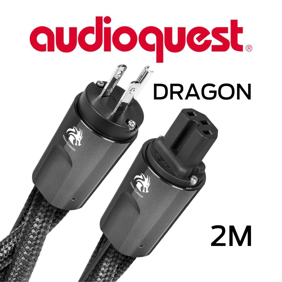 AudioQuest - Câble d'alimentation à courant élevé variable 2M Calibre 11AWG 20Amp RMS@125VAC 50/60Hz 72vDBS PSS/PSC+ Dragon200