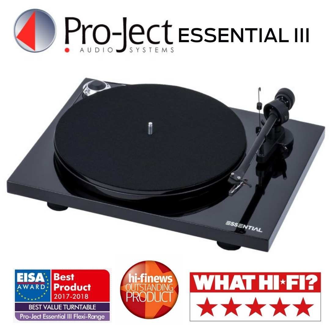 Pro-Ject - Table tournante Essential III Noire