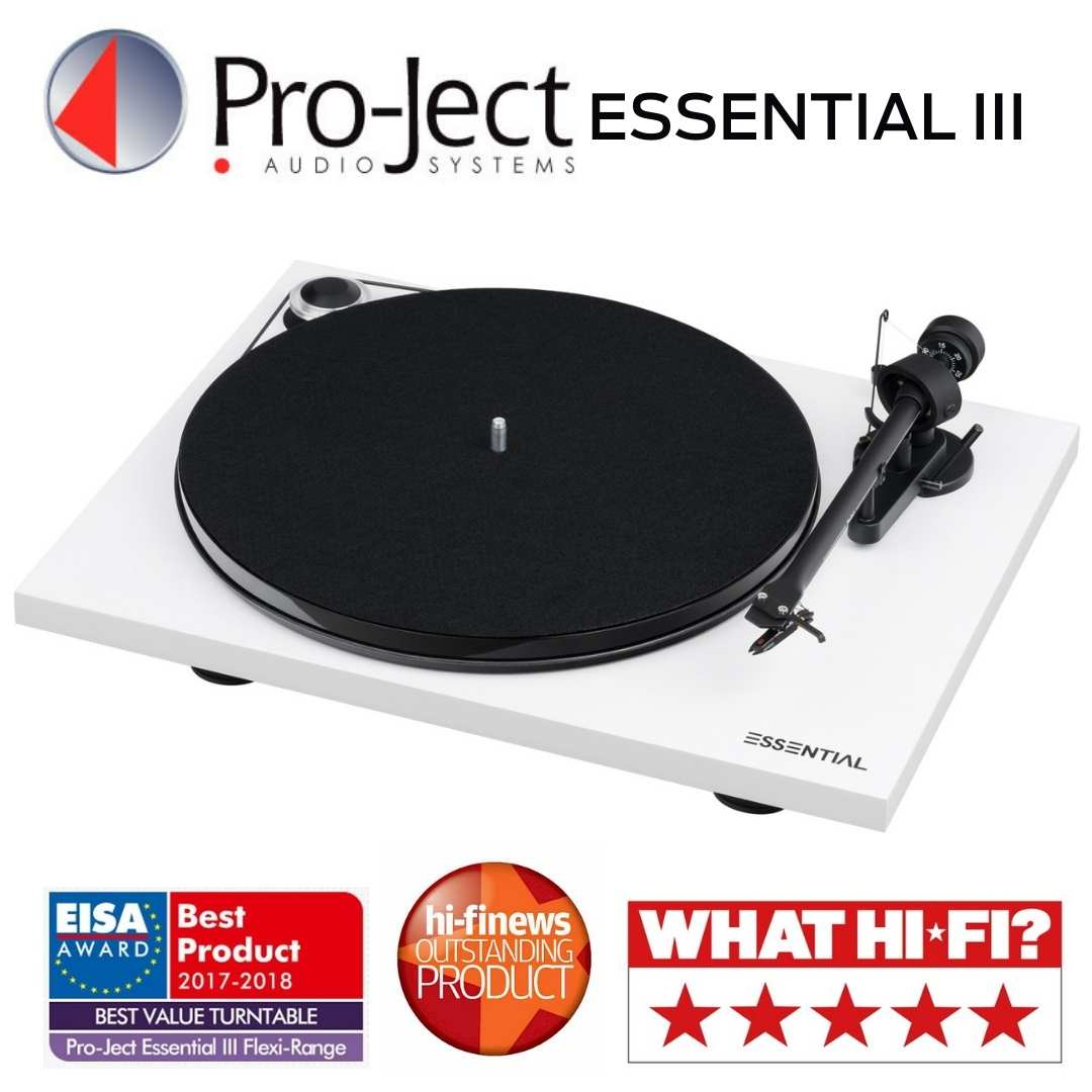 Pro-Ject - Table tournante Essential III Blanche