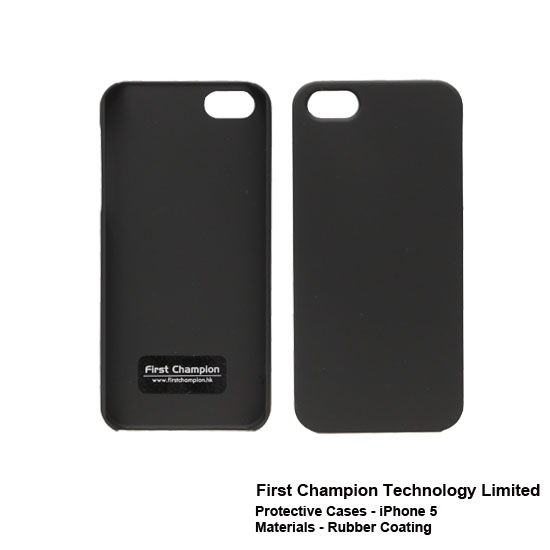 First Champion - Étuis pour Iphone 5 en caoutchouc FCPCiP5RC