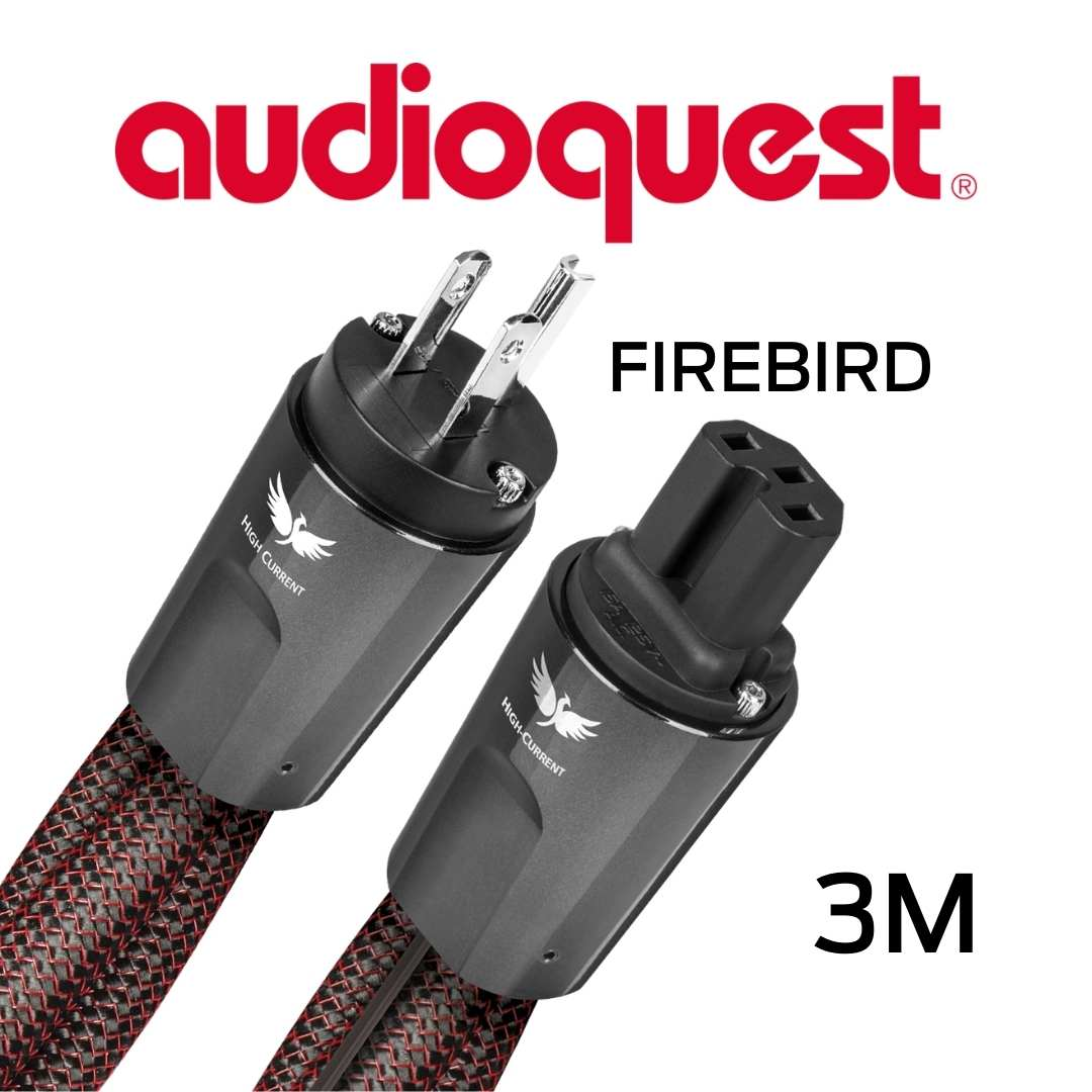 AudioQuest - Câble d'alimentation à courant élevé variable 3M Calibre 11AWG 20Amp RMS@125VAC 50/60Hz 72vDBS PSS/PSC+ FireBird300