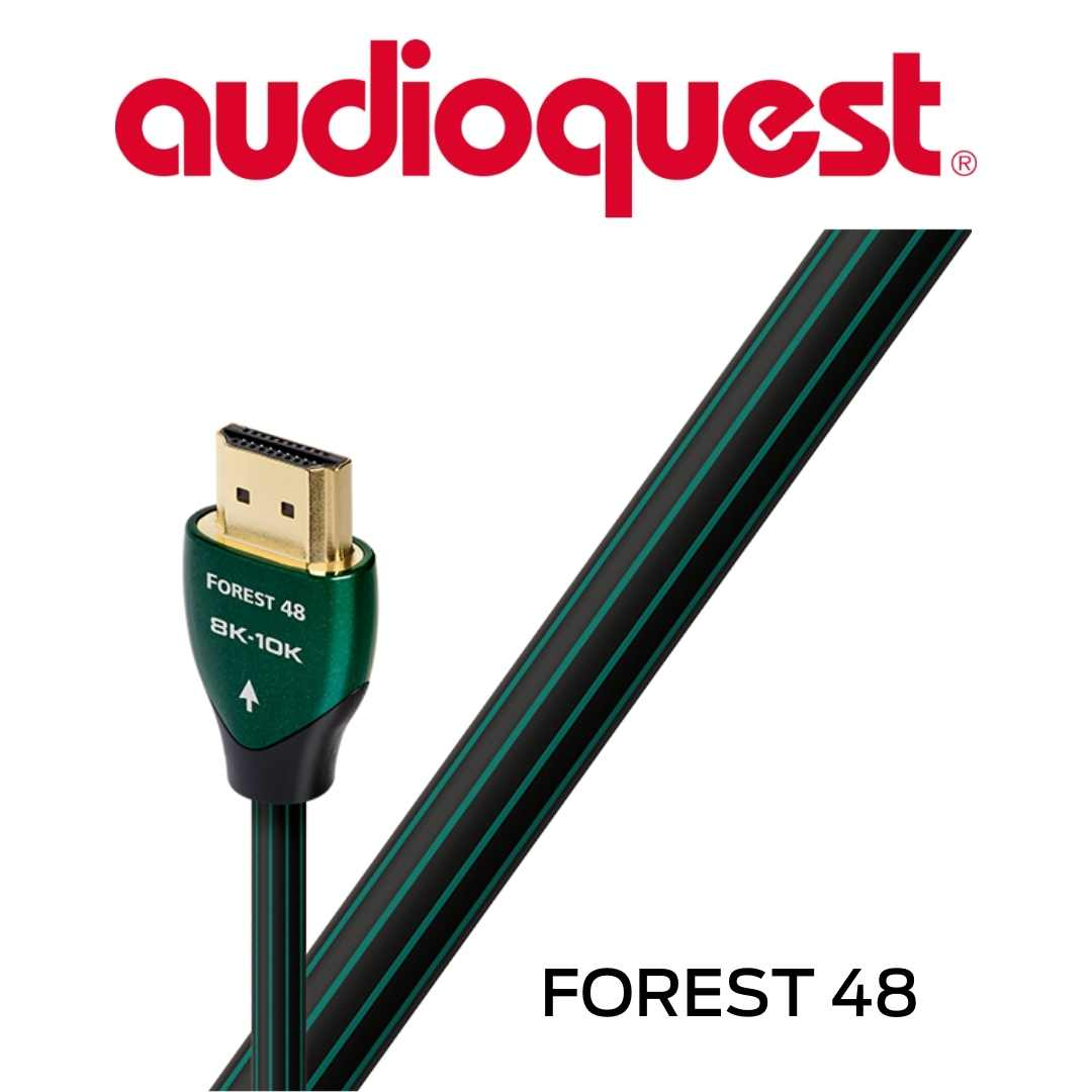 AudioQuest - Câble HDMI Forest 48Gbps 8K-10K 0.75M 2'6'' HDMIFOR48075