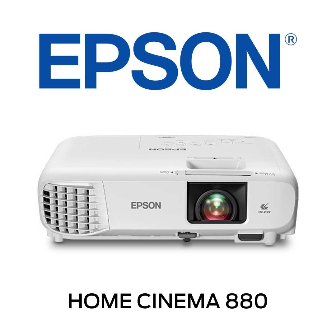 EPSON - Projecteur 1080p 3LCD Home Cinema 880