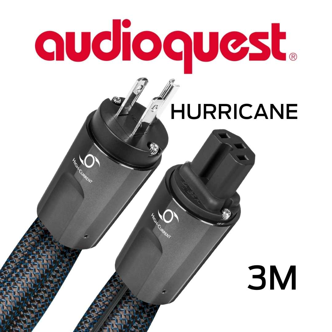 AudioQuest - Câble d'alimentation à courant élevé variable 3M Calibre 11AWG 20Amp RMS@125VAC 50/60Hz 72vDBS PSC+ Hurricane300