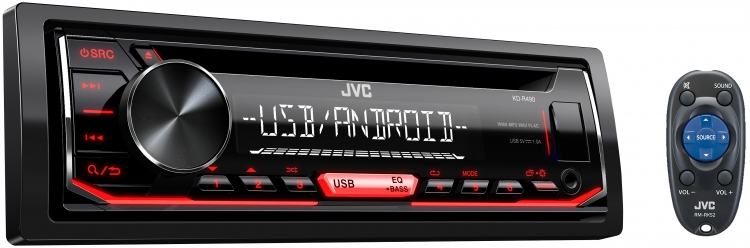 Radio Simple Din JVC avec CD - KD-R490