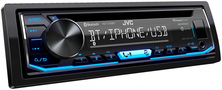 Radio Simple Din JVC avec CD - KD-T700BT