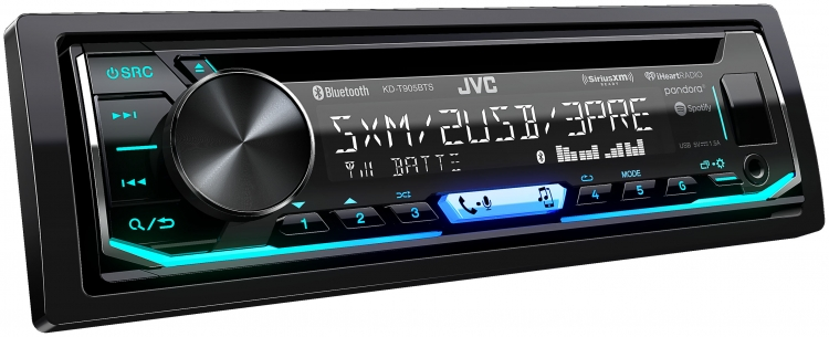 Radio Simple Din JVC avec CD - KD-T905BTS