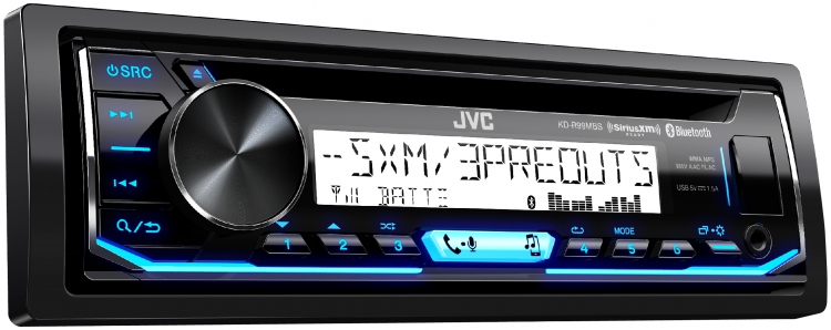 JVC - Radio marine Simple DIN Bluetooth KDR99MBS