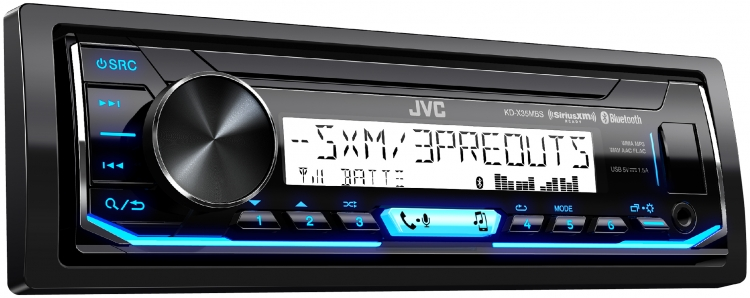 JVC - Radio marine sans CD Simple DIN Bluetooth KDX35MBS