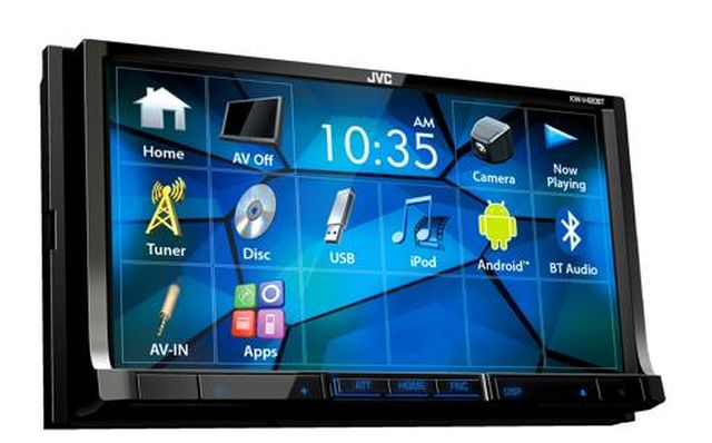 JVC - Radio d'auto multimédia double DIN Bluetooth