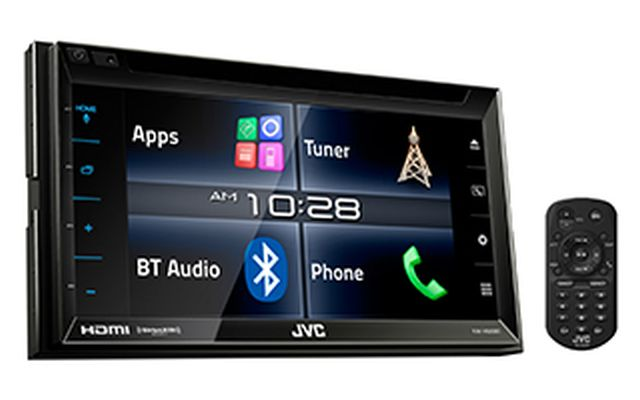 JVC - Radio d'auto multimédia double DIN Bluetooth KWV620BT