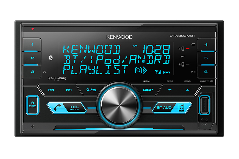 Kenwood - Radio Double DIN sans CD DPX303MBT