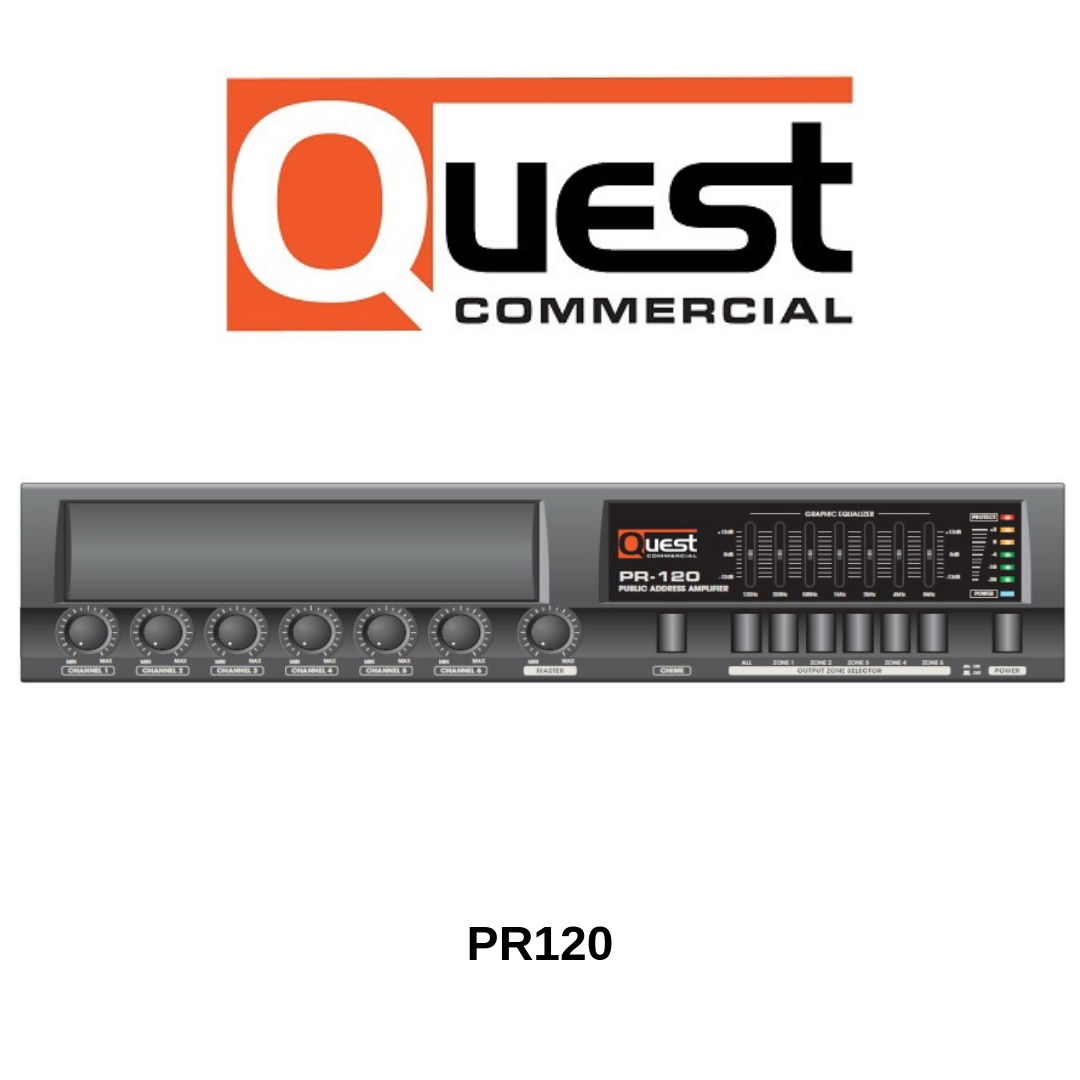 Quest Commercial - Amplificateur-Mélangeur 70V 120Watts PR120