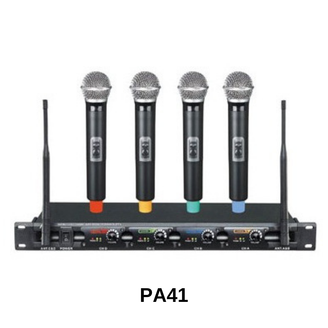 Pro Audio - ensemble de 4 microphones sans fils PA41