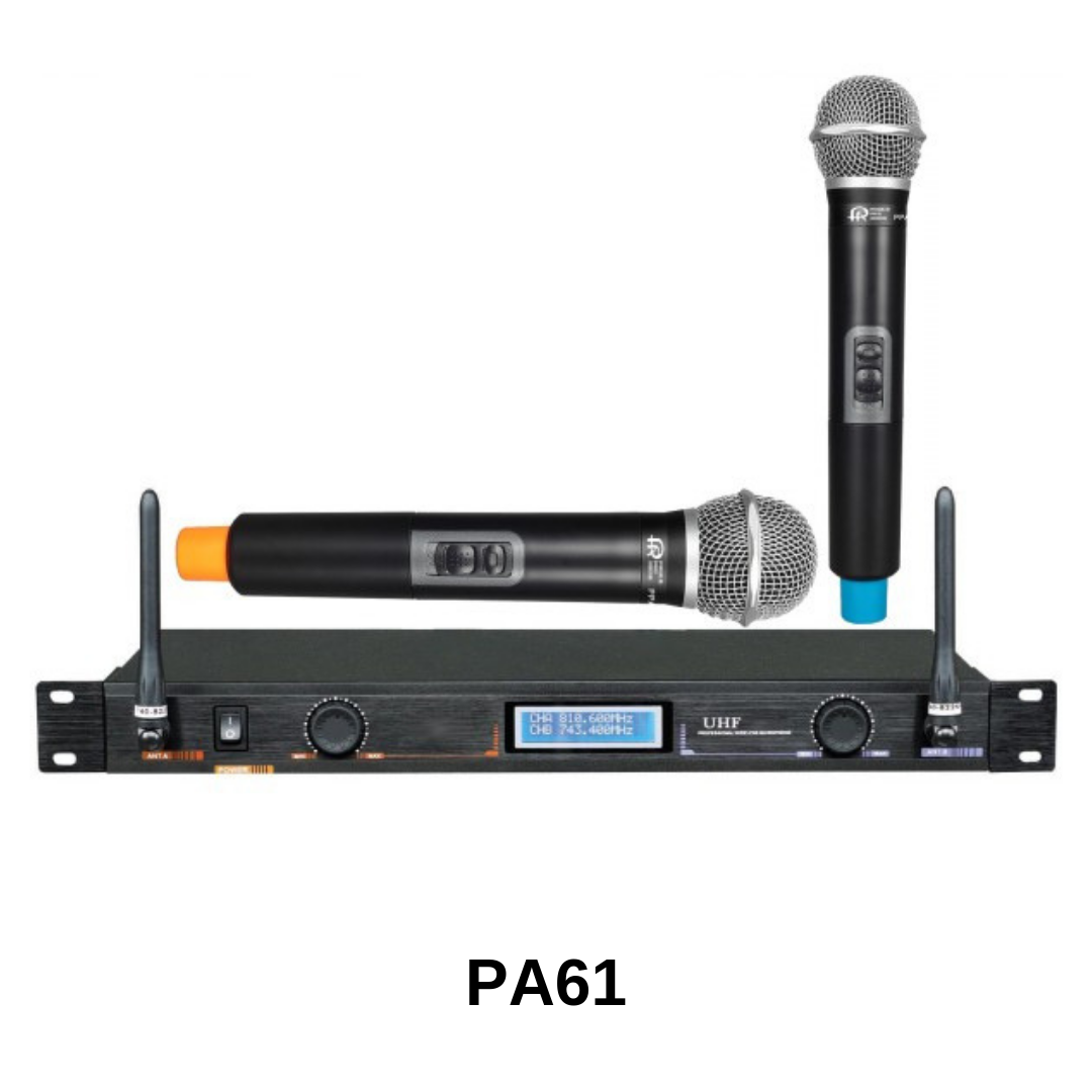 Pro Audio - ensemble de 2 microphones sans fils PA61
