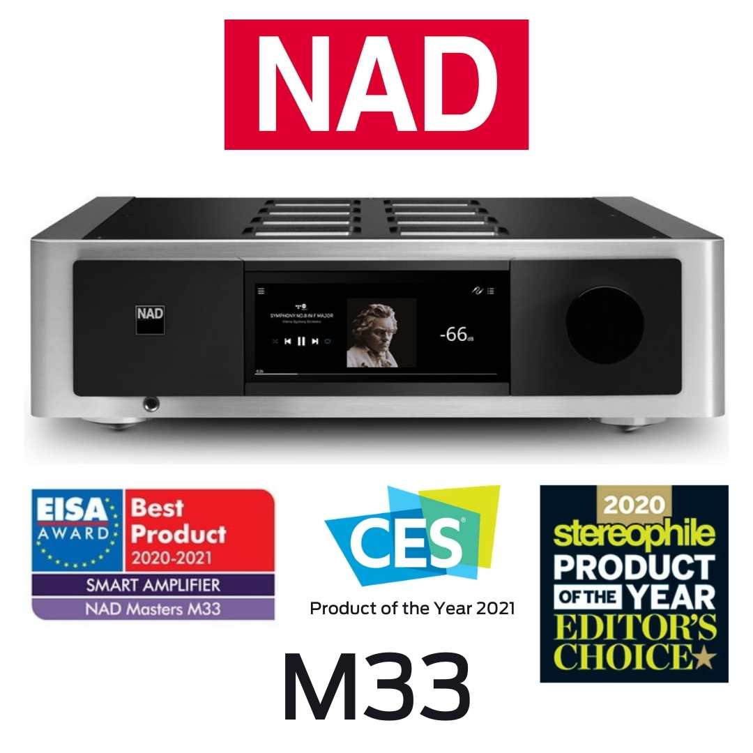 NAD - Amplificateur DAC BluOS® Streaming M33