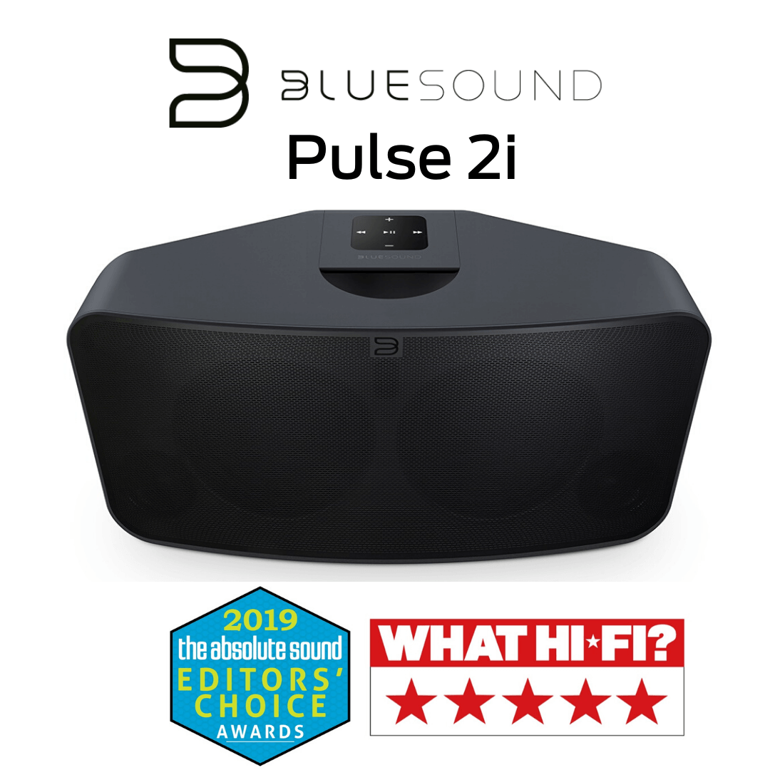 Bluesound - Haut-parleur multipièces sans fil Bluetooth Premium Pulse 2i