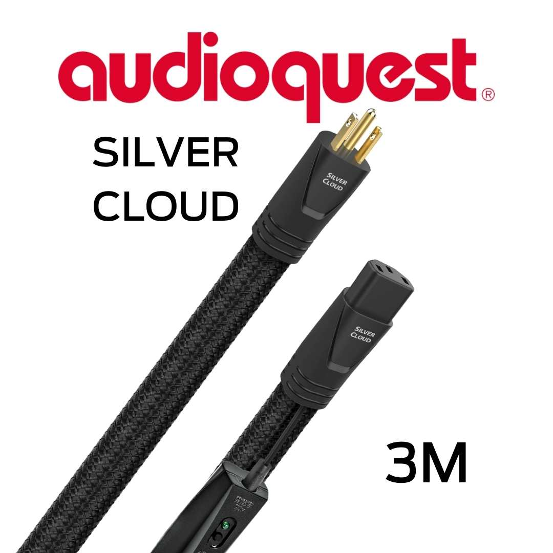AudioQuest - Câble d'alimentation tripolaire 3M Calibre 12AWG 20 Amp@60HZ 72vDBS PSS PSC+ Silver Cloud300