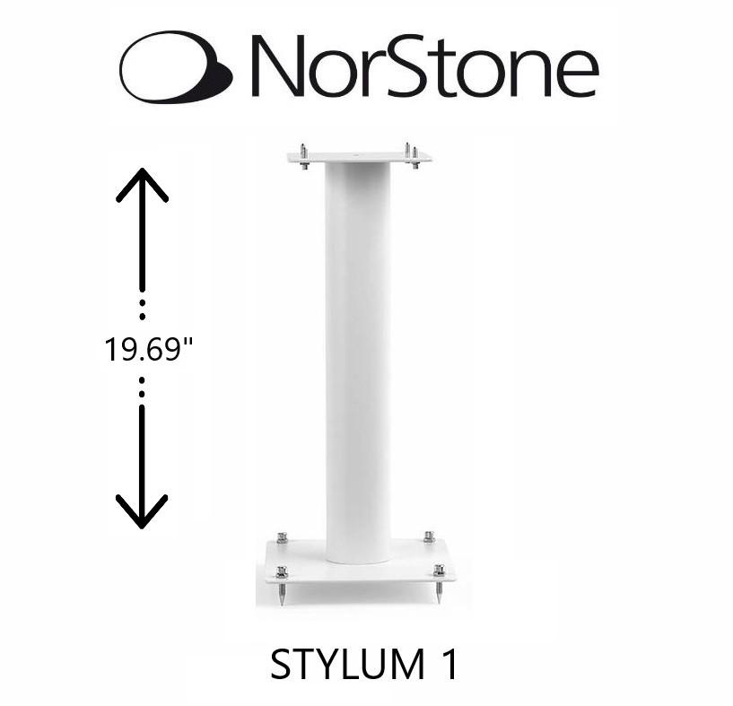NorStone - Support d'enceintes STYLUM 1 style blanc satiné