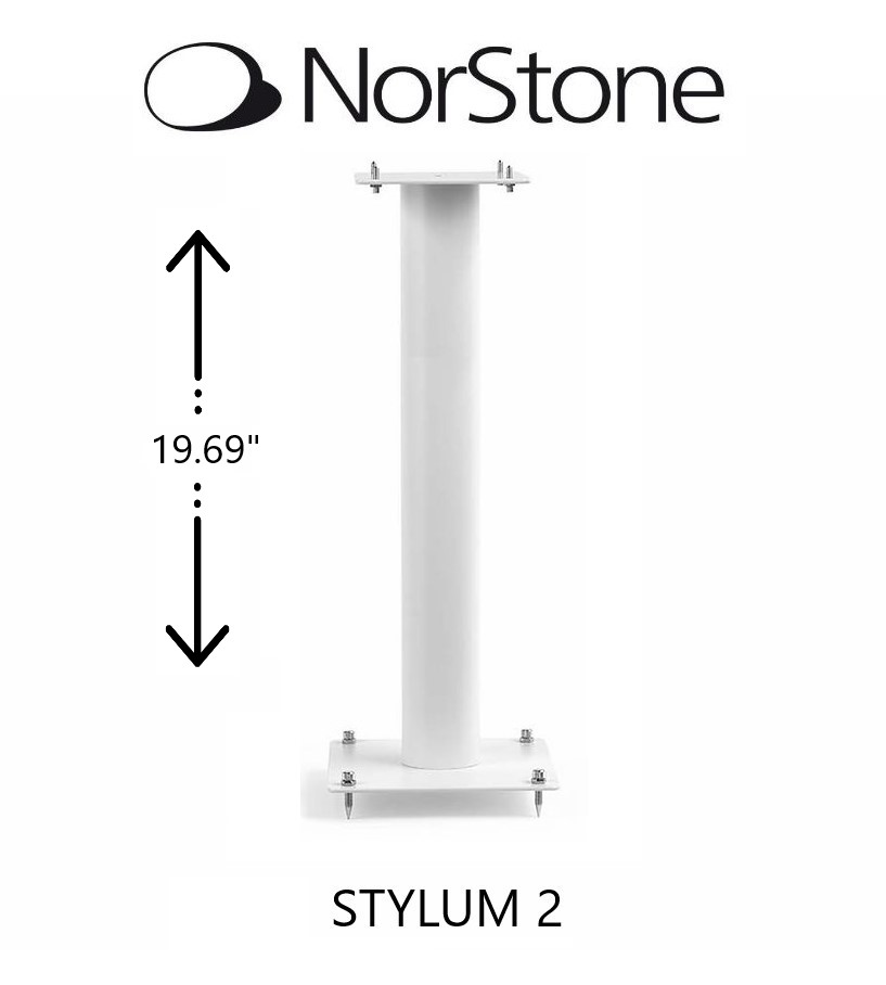 NorStone - Support d'enceintes STYLUM 2 style blanc satiné