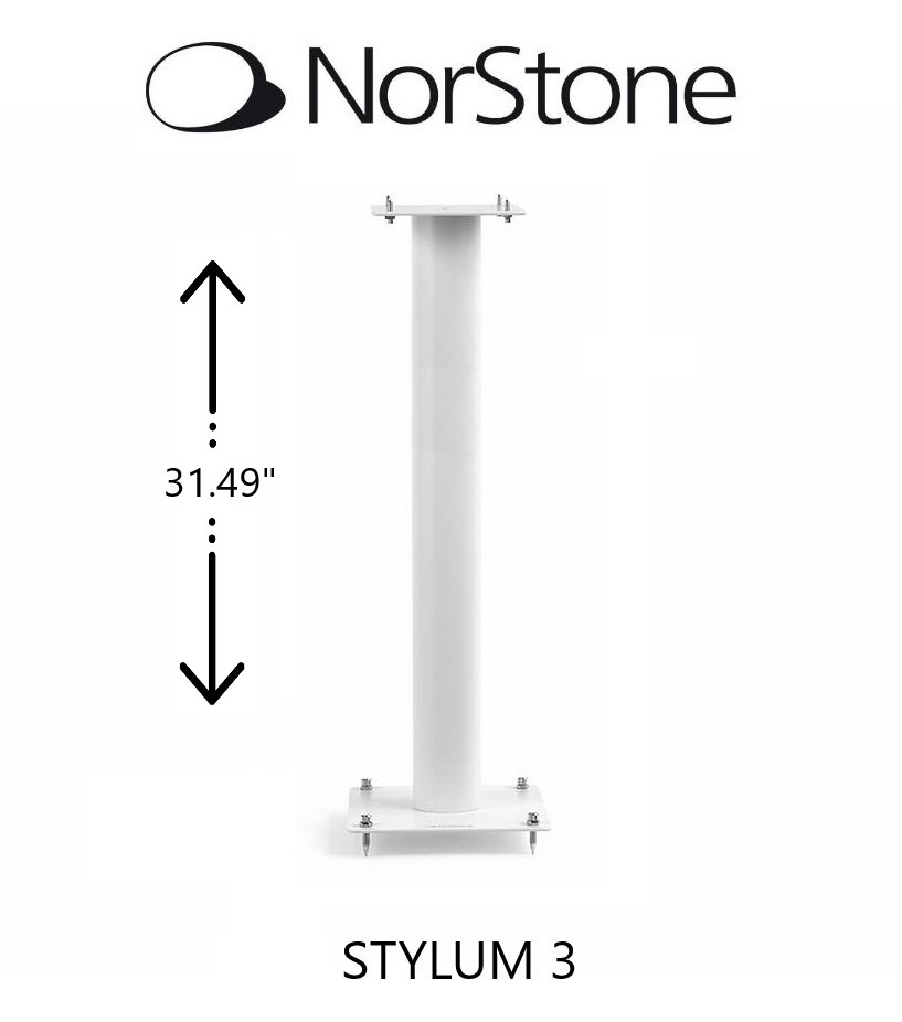 NorStone - Support d'enceintes STYLUM 3 style blanc satiné