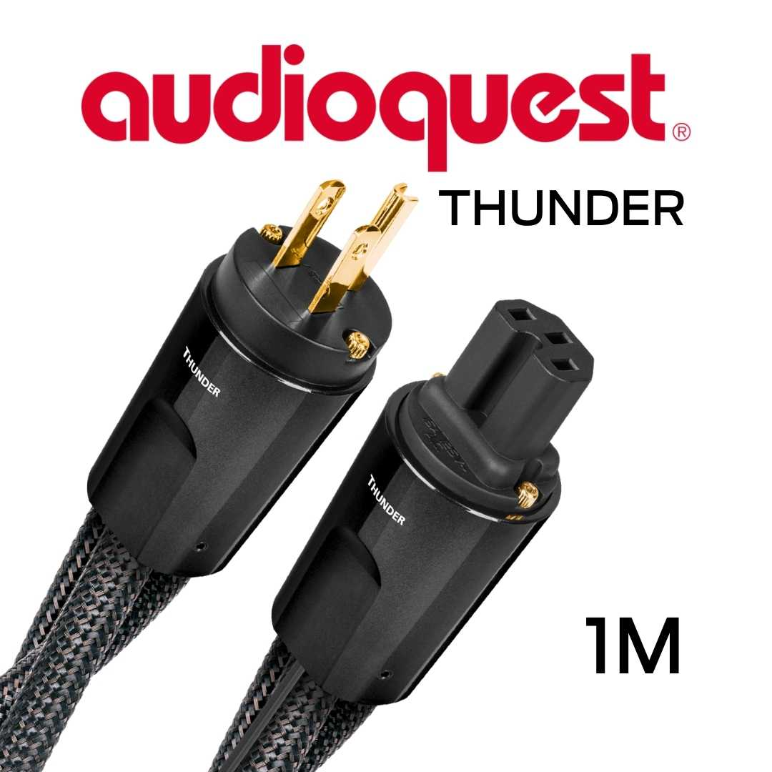 AudioQuest - Câble d'alimentation à courant élevé variable 1M Calibre 11AWG 20Amp RMS@125VAC 50/60Hz 72vDBS Thunder100