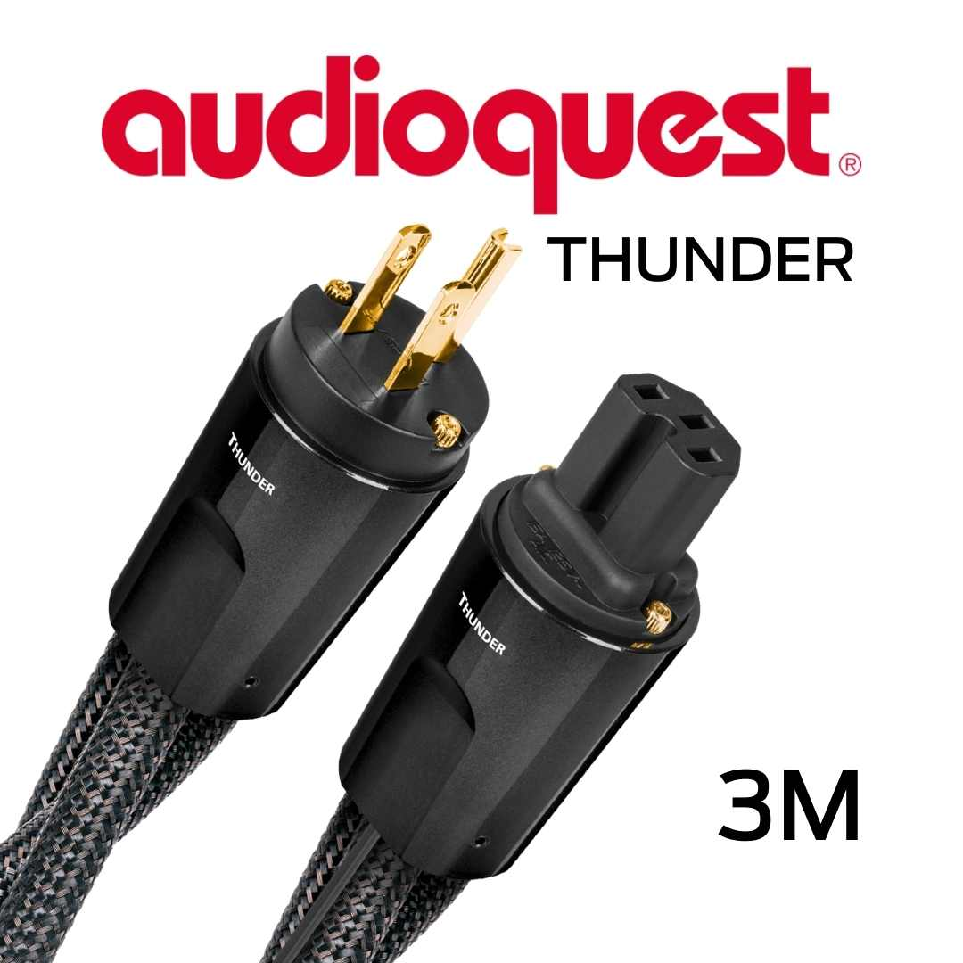 AudioQuest - Câble d'alimentation à courant élevé variable 3M Calibre 11AWG 20Amp RMS@125VAC 50/60Hz 72vDBS Thunder300