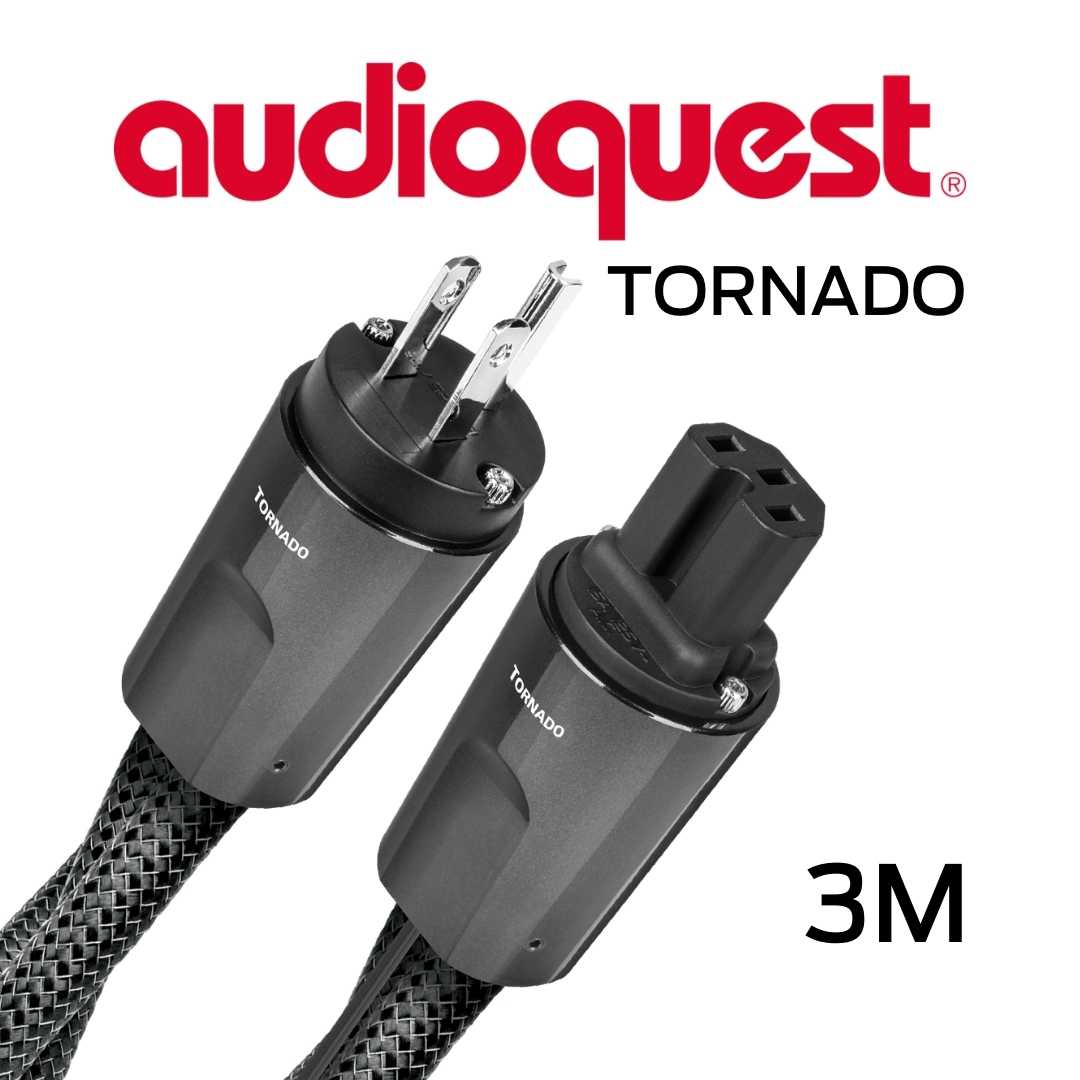 AudioQuest - Câble d'alimentation à courant élevé variable 3M Calibre 11AWG 20Amp RMS@125VAC 50/60Hz 72vDBS PSC PSC+ Tornado300