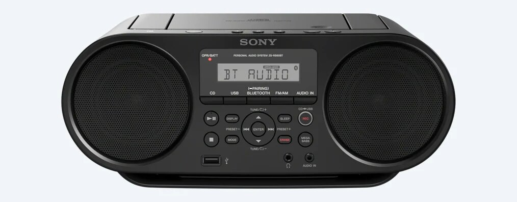 Sony - Boombox CD avec Bluetooth - ZSRS60BT