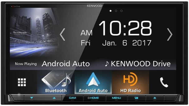 KENWOOD - Radio d'auto Excelon multimédia double DIN Bluetooth Radio HD - DDX9904S