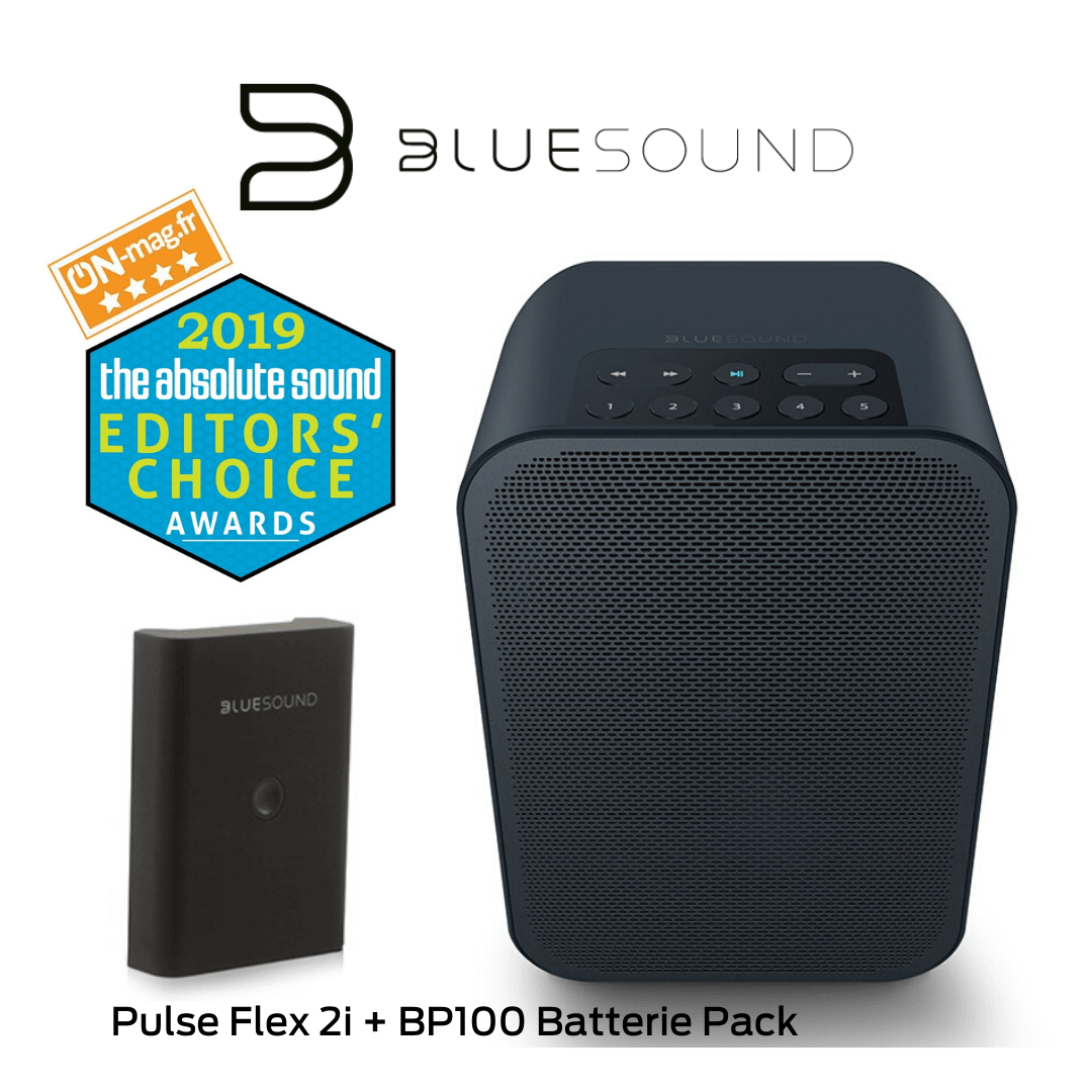 Bluesound - Pulse Flex 2i + BP100 Batterie Pack - Haut-parleur multipièce sans fil Bluetooth