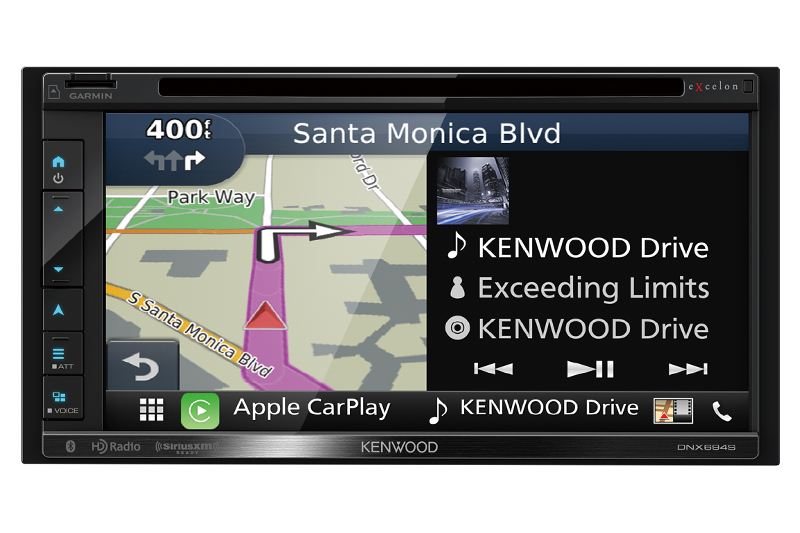 Kenwood - Radio moniteur double DIN eXcelon avec Bluetooth - DNX694S