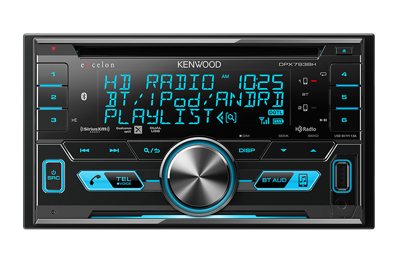 Radio double Din Kenwood avec CD - DPX793BH