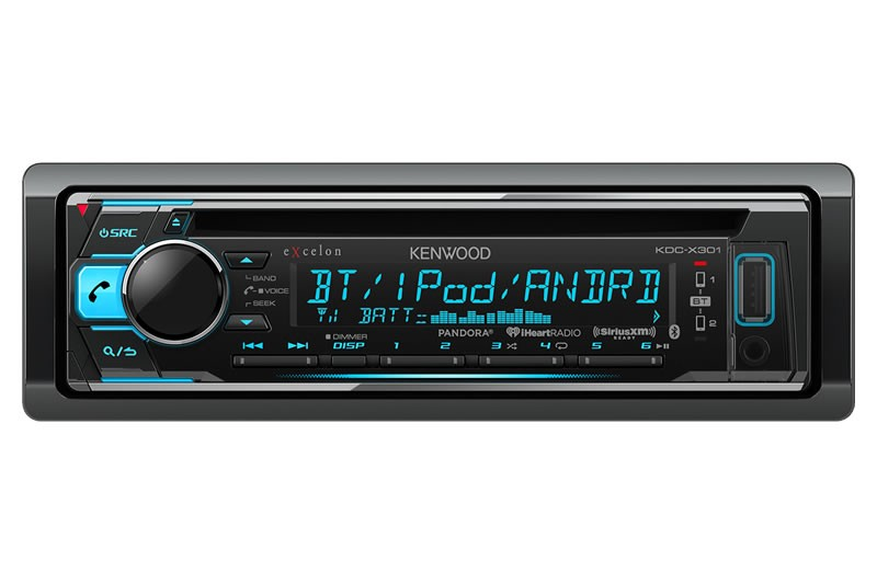 Kenwood - Radio simple DIN eXcelon avec Bluetooth - KDCX301