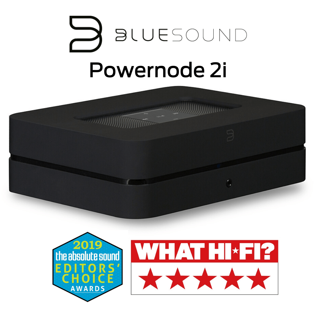 Bluesound - Powernode 2i avec HDMI - Amplificateur multipièces sans fil Bluetooth 60W/canal