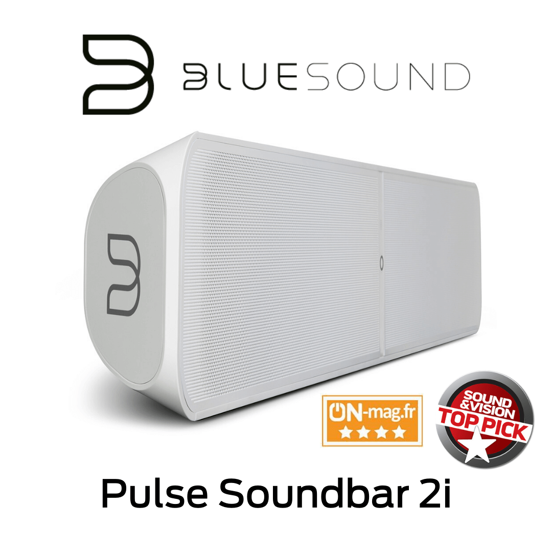 Bluesound - Barre de son sans fil Bluetooth Pulse Soundbar 2i Blanche
