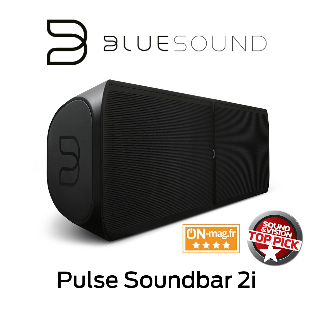 Bluesound - Barre de son sans fil Bluetooth Pulse Soundbar 2i Noir