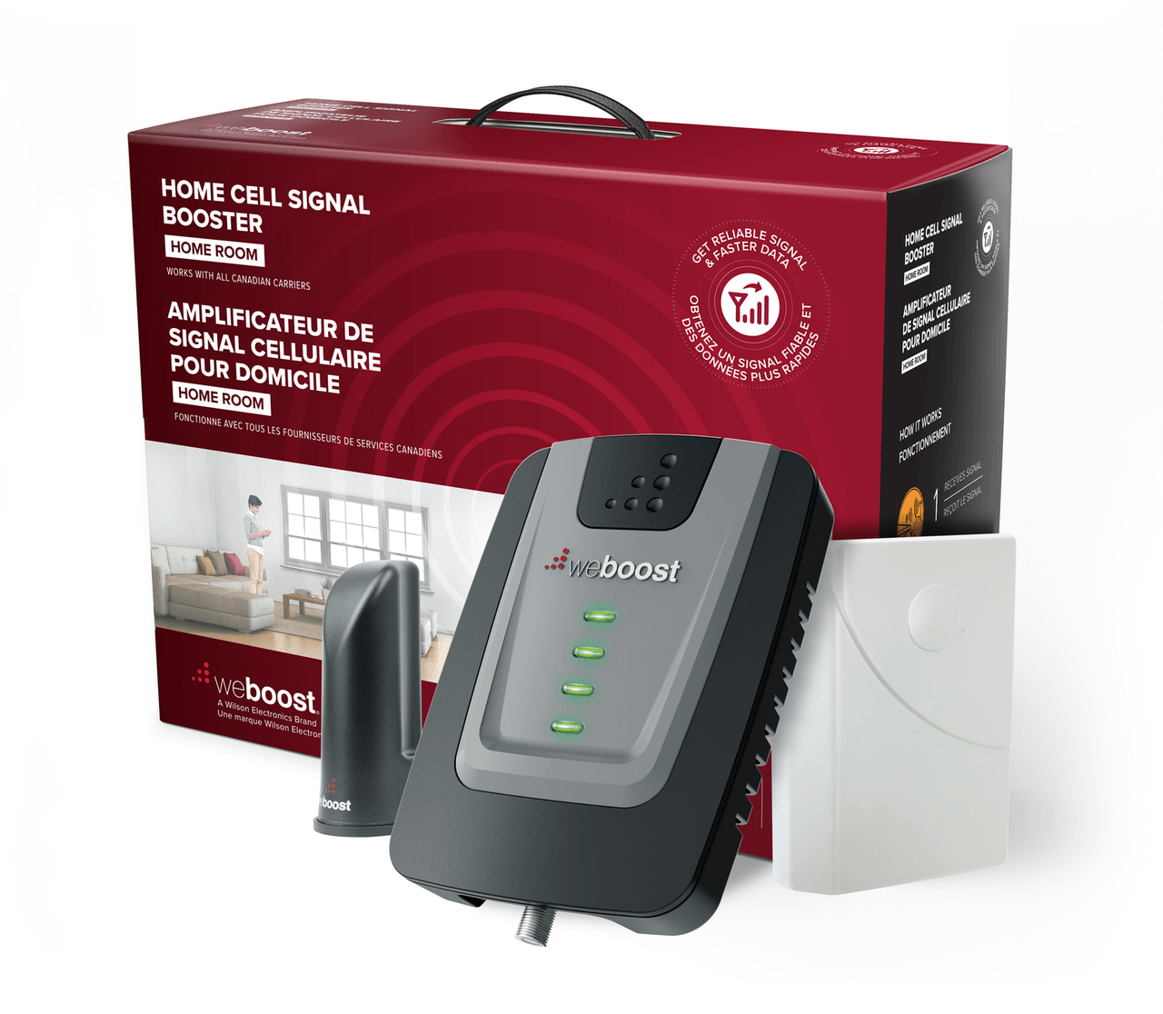 weBoost - Ensemble amplificateur de signal cellulaire weBoost Home Room - 652120